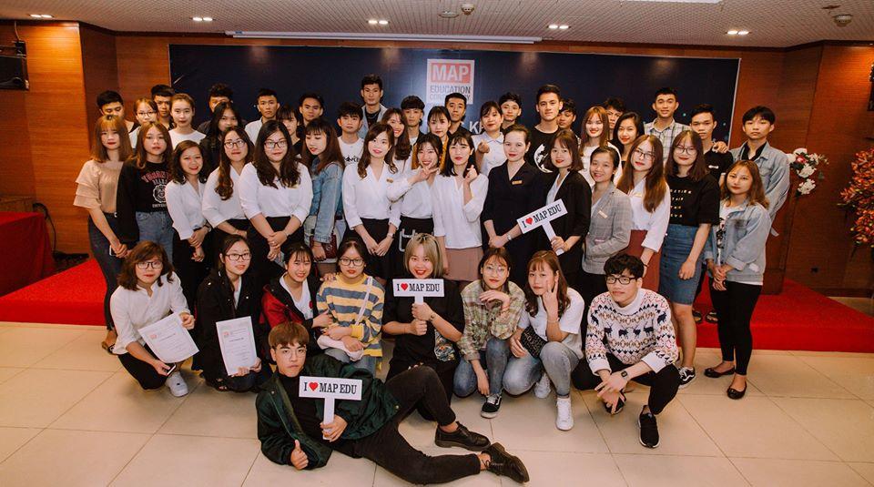 Du học sinh hàn quốc MAP trong ngày chia tay trước khi lên đường sang Hàn Quốc