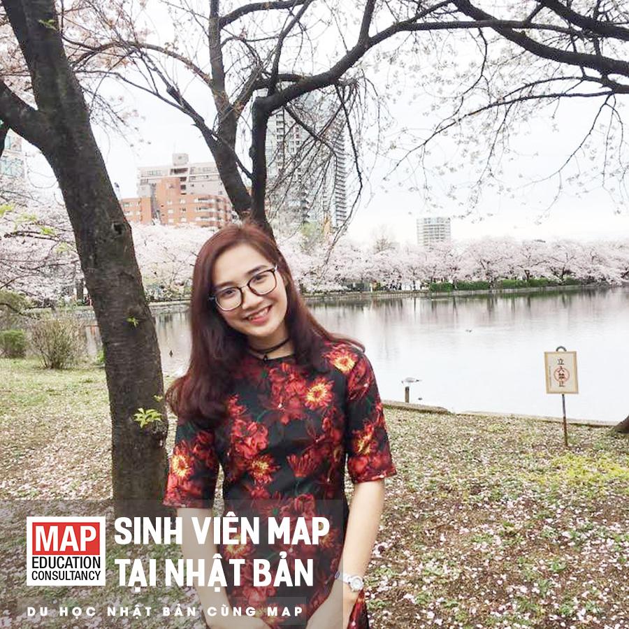 Bích Huyền – Sinh viên MAP hiện đang du học tại Học viện nhật ngữ MCA Nhật Bản