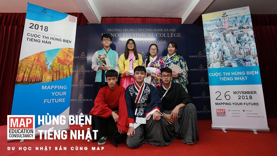 Tại MAP, sinh viên được cung cấp khóa học tiếng Nhật hoàn toàn miễn phí cùng những cuộc thi hùng biện hấp dẫn
