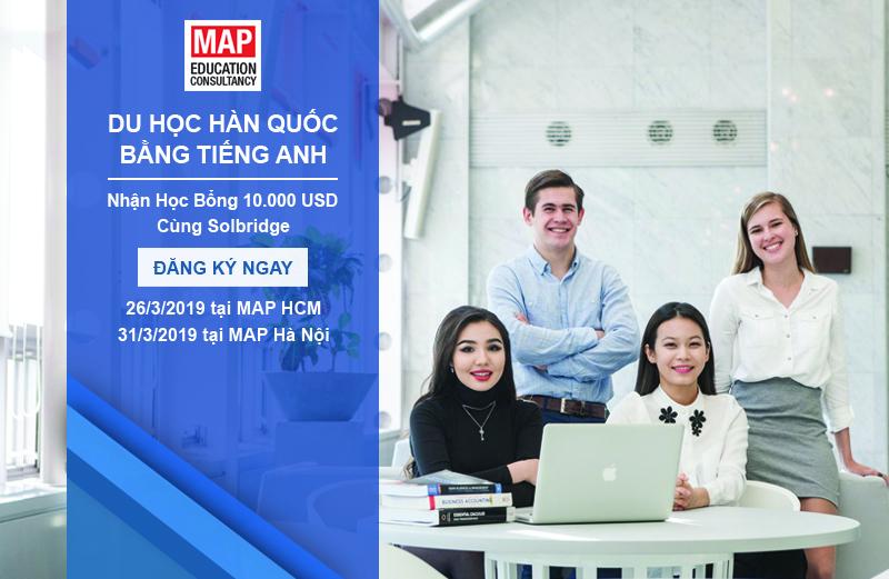 Du Học Hàn Bằng Tiếng Anh, 100% Học Bổng, Visa Thẳng Cùng Trường SolBridge