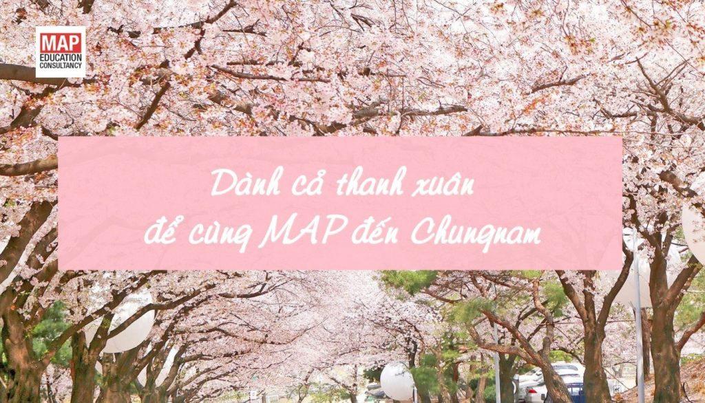 Du Học MAP tặng học bổng 250.000 Won cho sinh viên Chungnam