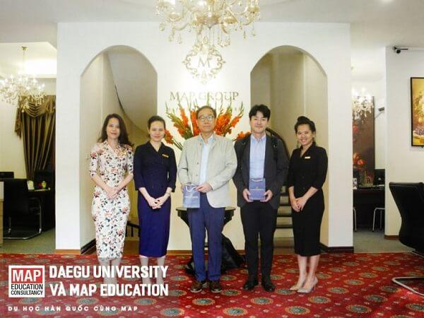 Đại diện Daegu university về thăm và làm việc cùng Du học MAP