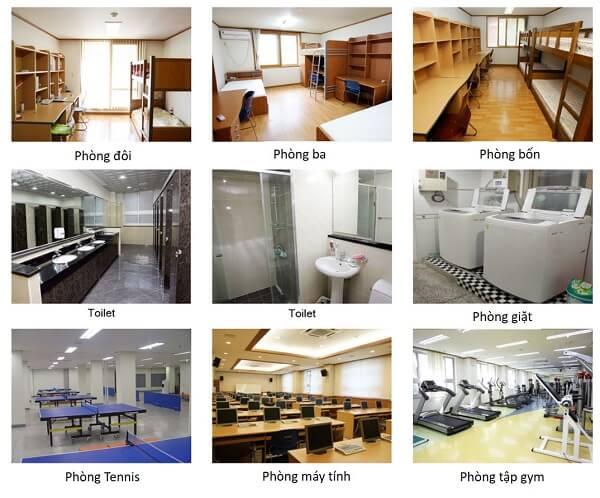Cơ sở vật chất tại KTX đại học Keimyung