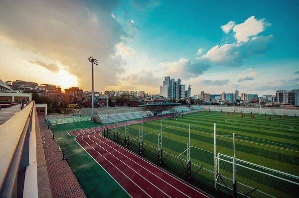 Khu vui chơi và luyện tập thể thao cho sinh viên trường đại học Seoul Hàn Quốc