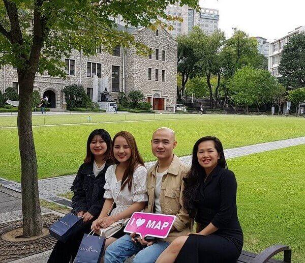 MAP tới thăm cựu sinh viên MAP học tại ChungAng