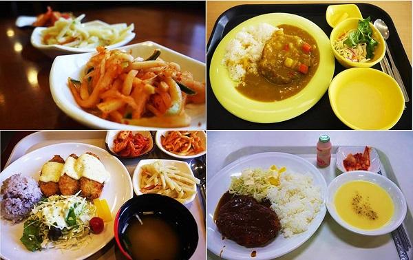 Một số xuất ăn tại Korea University