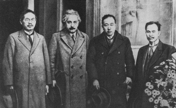 Nhà vật lý nổi tiếng Albert Einstein đến thăm trường đại học Tohoku Nhật Bản