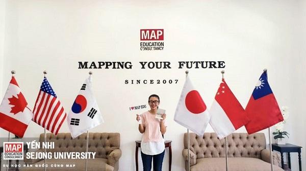 Yến Nhi – Sinh viên MAP với GPA 9.0 cấp 3 hiện đang học tại Sejong