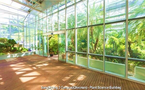 Tòa nhà kính Nghiên cứu & Thí nghiệm Thực vật tại Học xá Cheonam