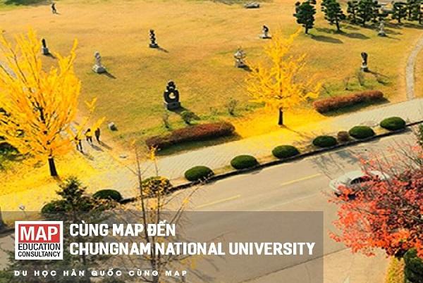 Khuôn viên thơ mộng vào mùa thu tại CNU