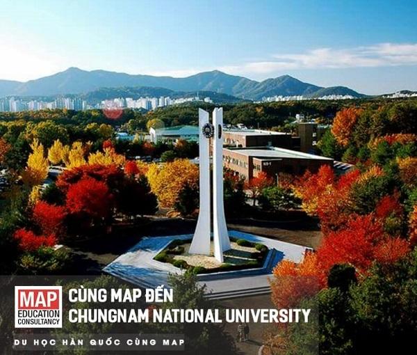 Đại học quốc gia ChungNam rực rỡ sắc màu khi thu về
