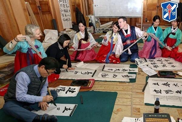 Sinh viên quốc tế học văn hóa Hàn Quốc tại ĐH Keimyung