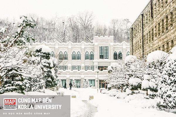 Học xá Đại học Korea ngập tràn tuyết trắng vào mùa đông