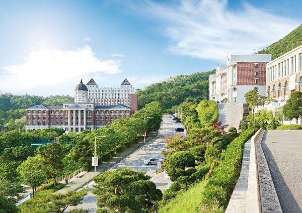 Khuôn viên Tongwon University xanh mát vào mùa hạ
