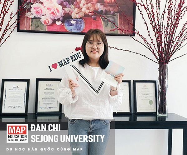 Đan Chi - Luôn giữ vững thành tích đứng đầu lớp học tại Sejong