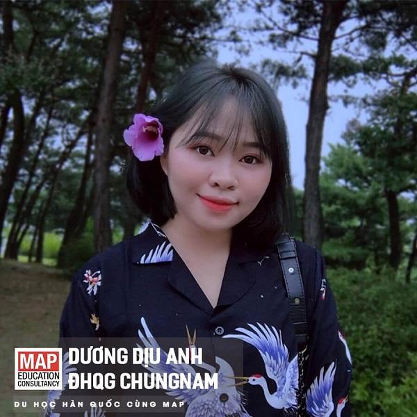 Dương Dịu Anh - Nữ sinh thanh lịch của MAP tại Đại học Quốc gia Chungnam