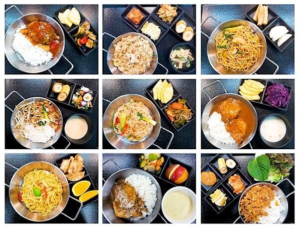 Một số xuất ăn tại căng-tin ĐH Yonsei