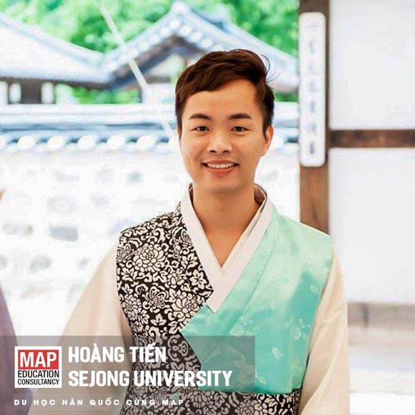 Hoàng Tiến – sinh viên MAP đa tài tại trường Đại học Sejong Hàn Quốc