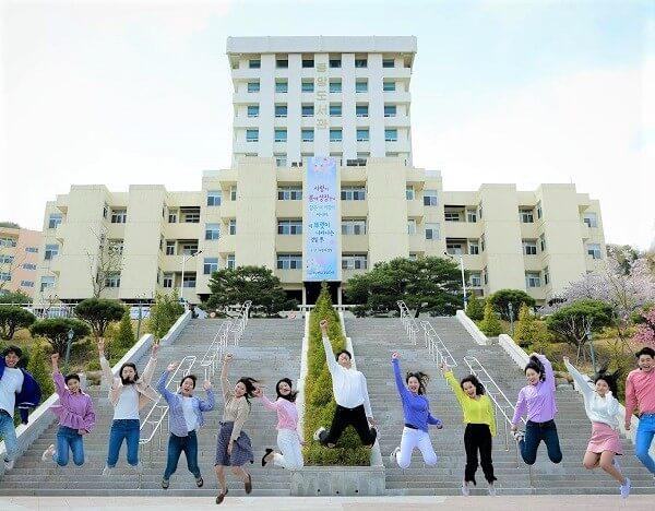 Toà học xá chính của trường Kyungnam Hàn Quốc