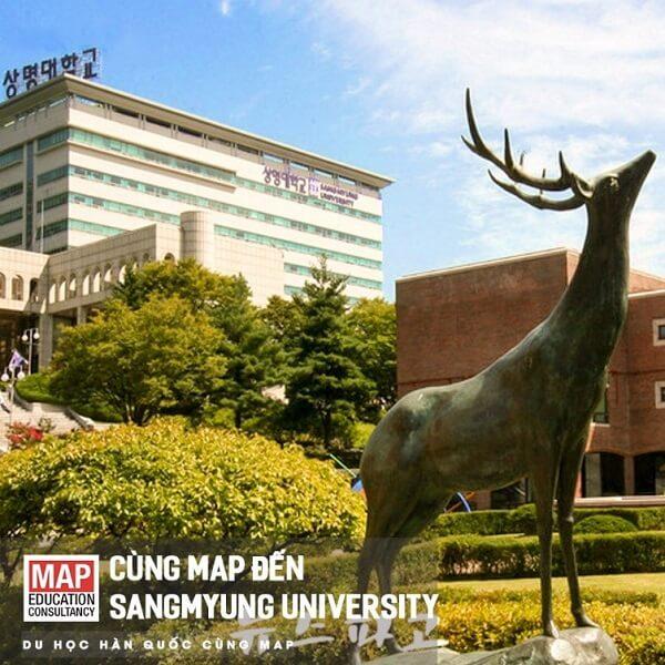 Bức tượng Hươu - Biểu tượng của Sangmyung Univesity