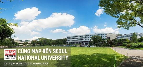 Khuôn viên xanh mát tại Đại học Quốc gia Seoul
