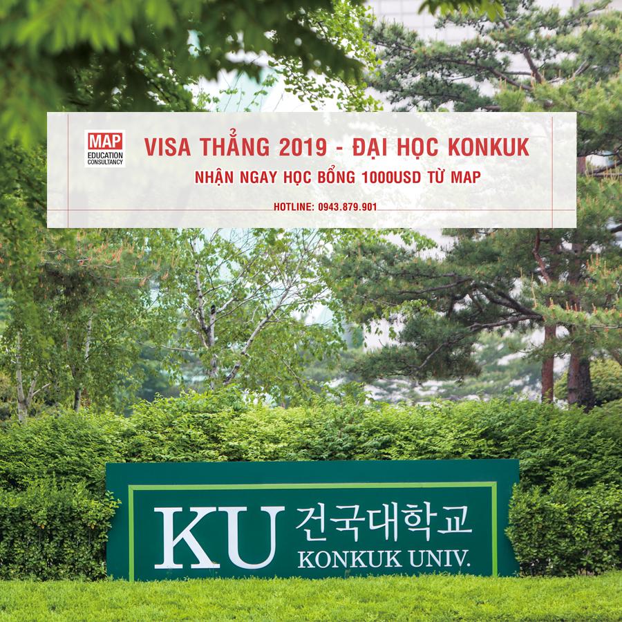 Học bổng Đại học Konkuk 10000 USD từ Du Học MAP