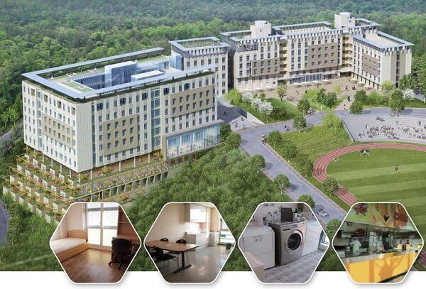 Khu ký túc xá hiện đại của Gachon University