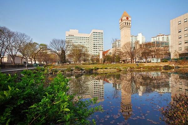 Toàn cảnh khuôn viên trường đại học Sejong Hàn Quốc