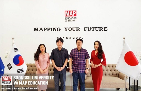 Đại học Soongsil đến thăm và làm việc tại Du học MAP