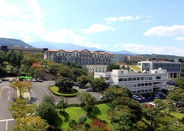 Toàn cảnh trường Đại học Quốc gia Jeju