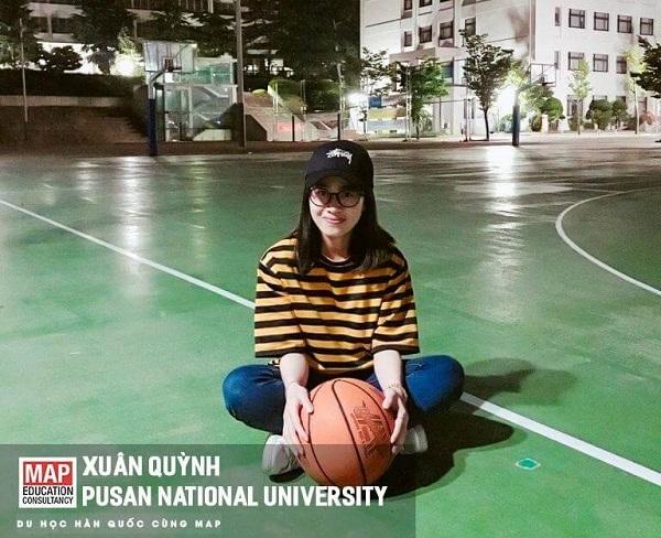 Xuân Quỳnh – Du học sinh MAP tại sân bóng rổ trường PNU