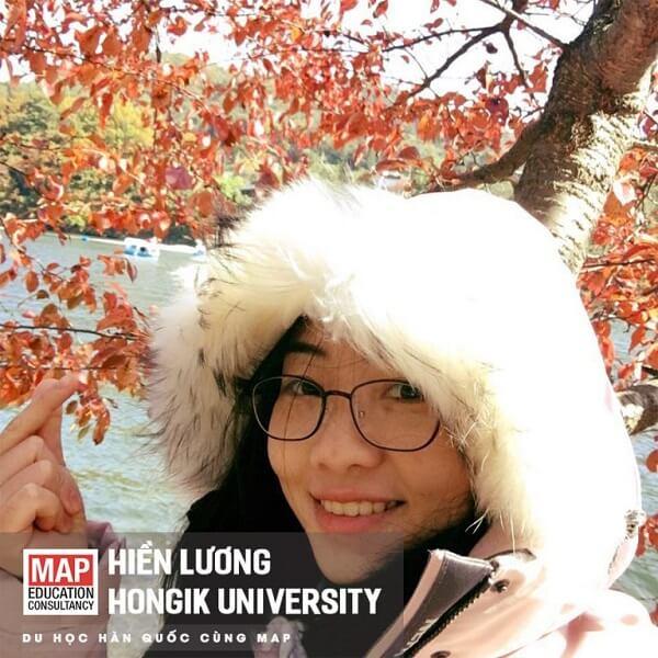 Hiền Lương - Nữ sinh MAP học tại Đại học Hongik