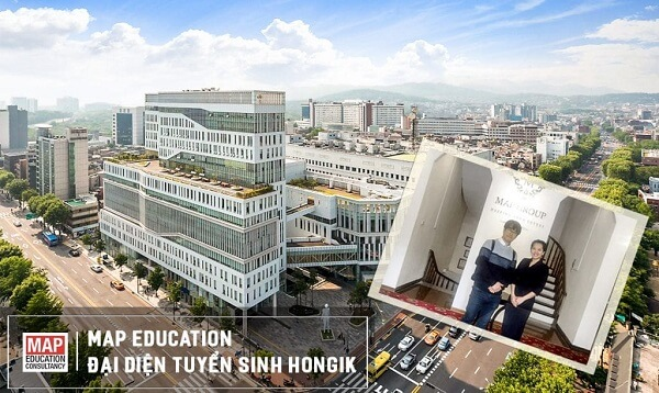 Đại diện tuyển sinh của Đại học Hongik tới thăm và làm việc tại MAP