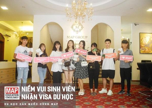 Sinh viên MAP xuất sắc nhận được visa D4-1 đi du học Hàn Quốc