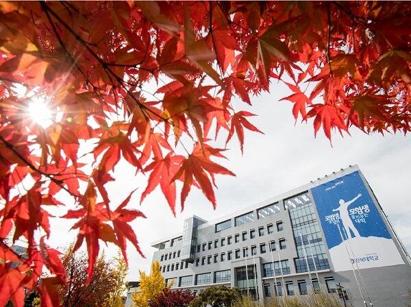 Khuôn viên Đại học Chonbuk rực đỏ mỗi dịp thu sang