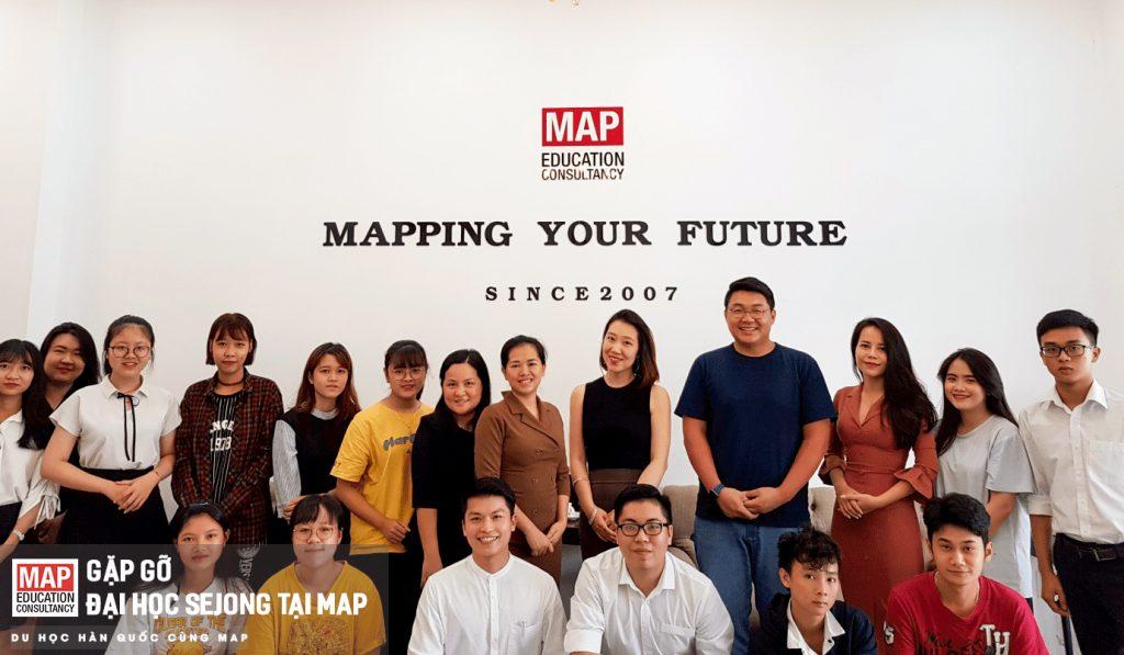 MAP là đại diện tuyển sinh chính thức của đại học Sejong tại Việt Nam