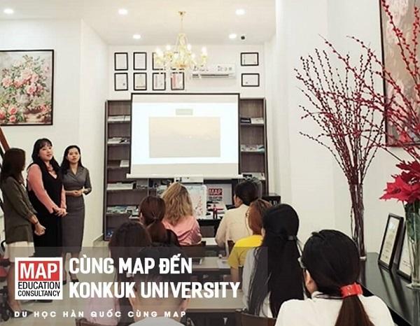 Konkuk đồng hành cùng MAP cập nhật chương trình tuyển sinh cho sinh viên