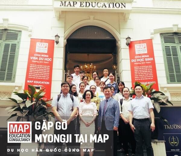 Đại diện trường Hàn Quốc đến thăm và làm việc tại MAP