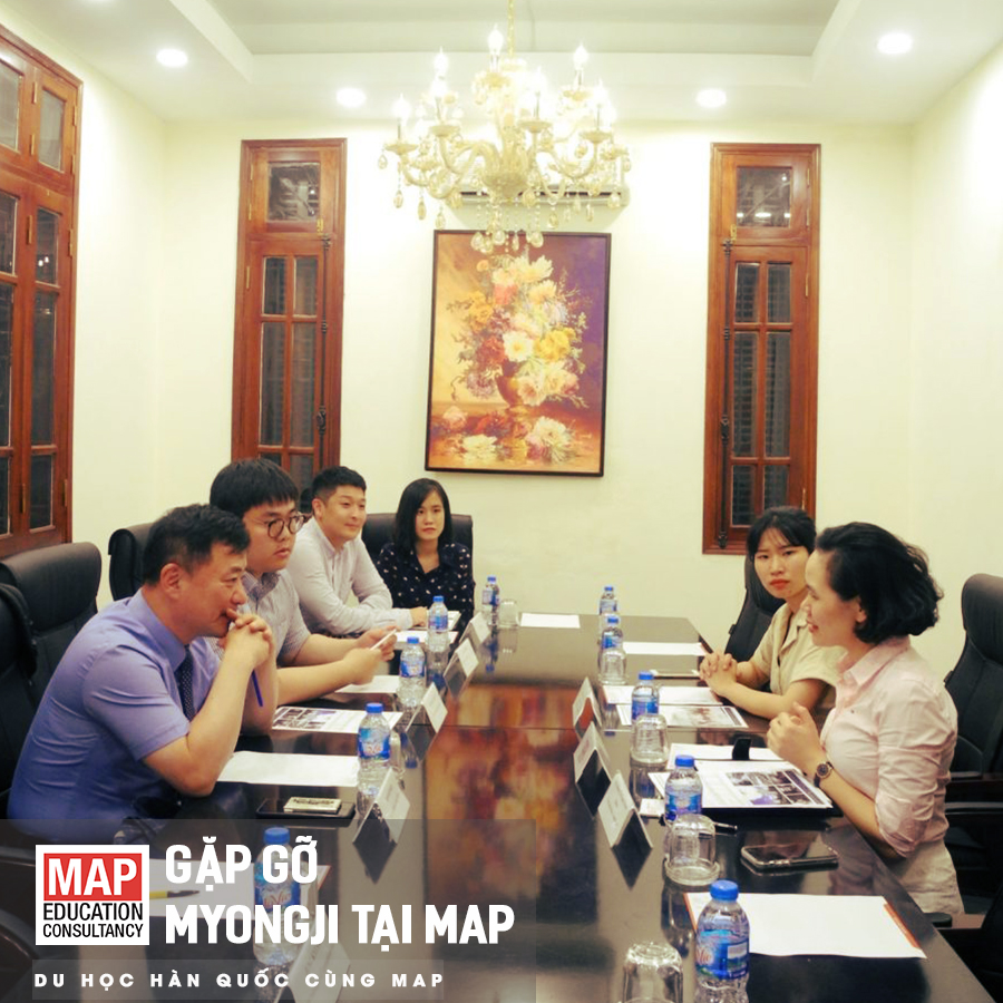 MAP được công nhận là đại diện tuyển sinh chính thức của trường Myongji.