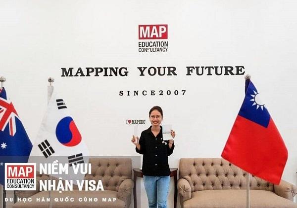 Sinh viên MAP tại TP. HCM nhận visa đi du học tại Hàn Quốc