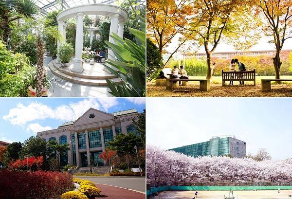 Những khung cảnh đậm chất nghệ thuật trong khuôn viên trường Ulsan Hàn Quốc