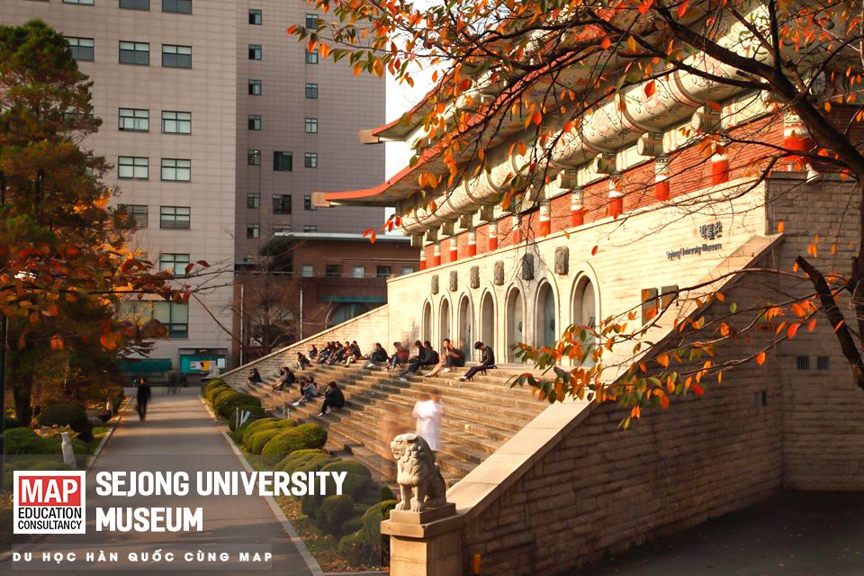 Sejong University sở hữu môt bảo tàng đẹp bậc nhất so với các trường đại học lớn tại Hàn Quốc