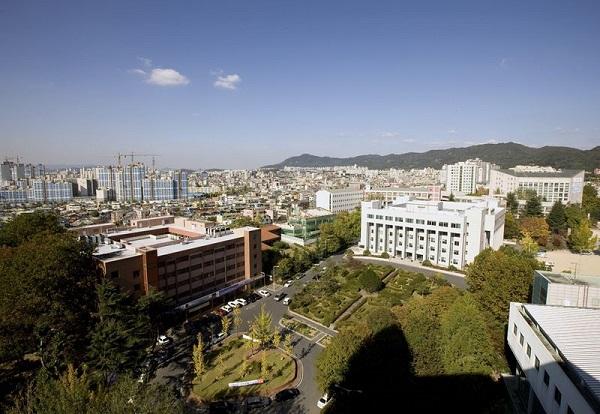 Toàn cảnh khuôn viên của trường đại học Woosong