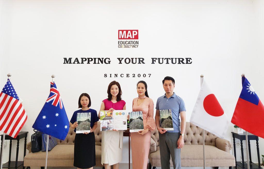 Học viện Ngoại ngữ Quốc tế Toua và MAP đã có cả thập niên cùng hợp tác tuyển sinh