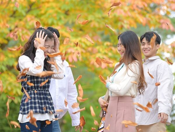 Khuôn viên trường Hallym đẹp rực rỡ vào mùa thu