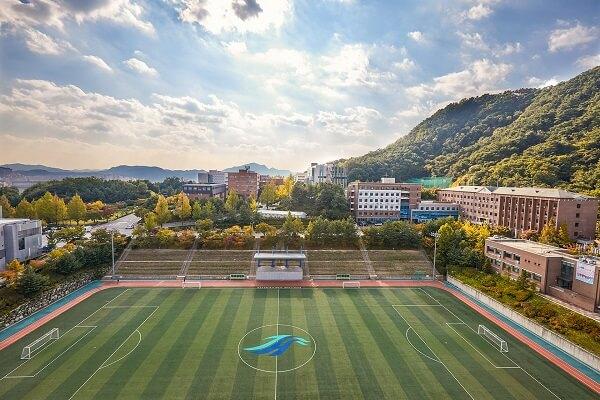 Sân vận động hiện đại tại Hallym University