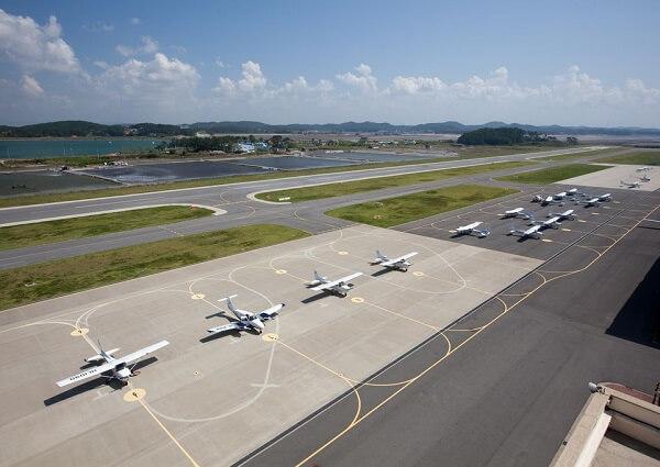Đường bay rộng lớn tại học xá Taean