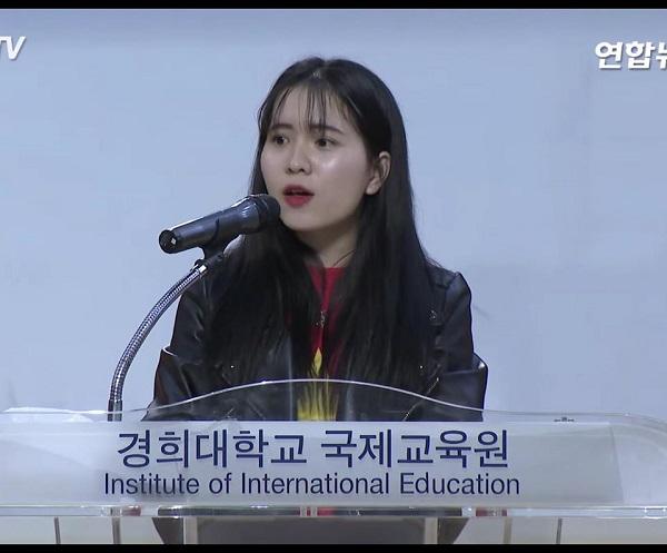 Bạn Mai Hương, du học sinh Hàn Quốc làm công việc phiên dịch cho nhiều viện thẩm mĩ lớn