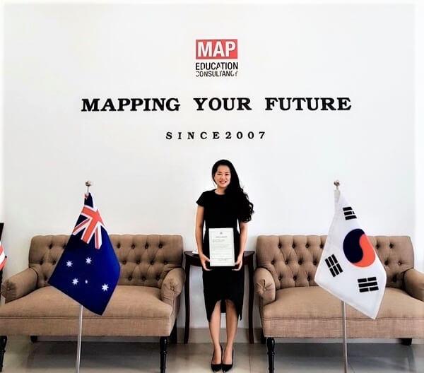 Chị Hoàng Quỳnh Nga, Giám Đốc chương trình Du Học Hàn Quốc MAP