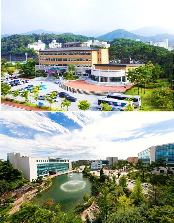 Toàn cảnh học xá Wonju và học xá Gangneung
